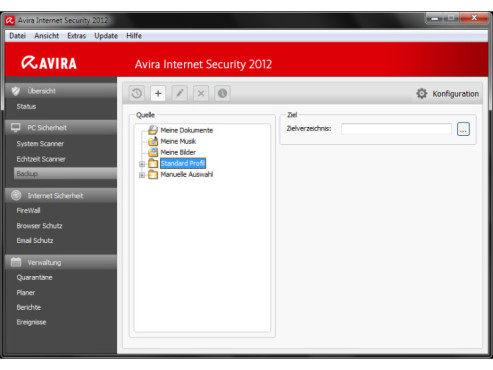 Avira Internet Security 2012: Automatische Backups © COMPUTER BILD