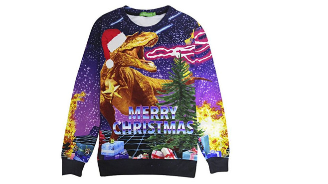 T-Rex Christmas Sweater © Amazon