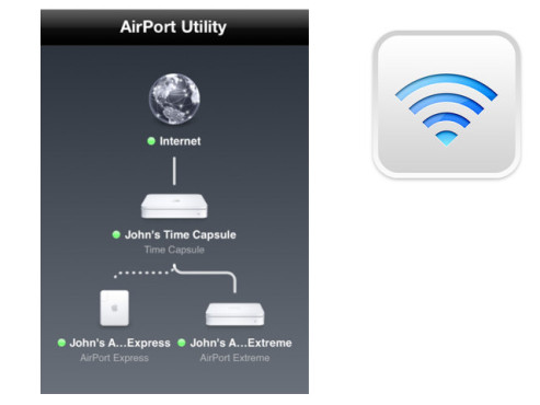 Airport Dienstprogramm © Apple Inc.