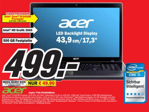 Acer Aspire 7750-2434G50Mnkk ©Media Markt