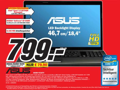 Asus A93SV-YZ187V ©Media Markt