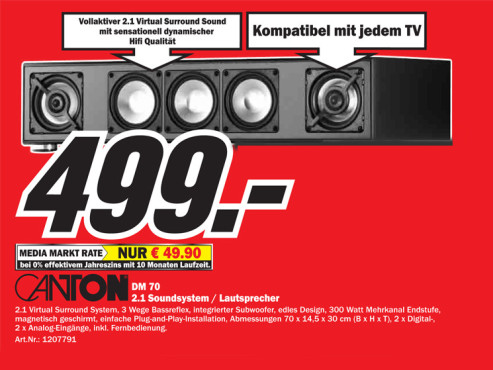 Canton DM 70 ©Media Markt