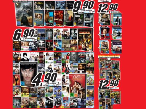 DVD- und Blu-ray-Angebote ©Media Markt