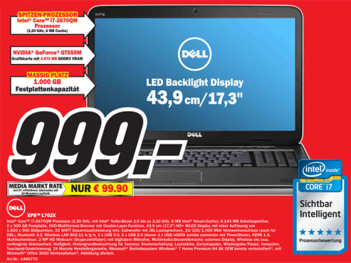 Dell XPS L702X © Media Markt