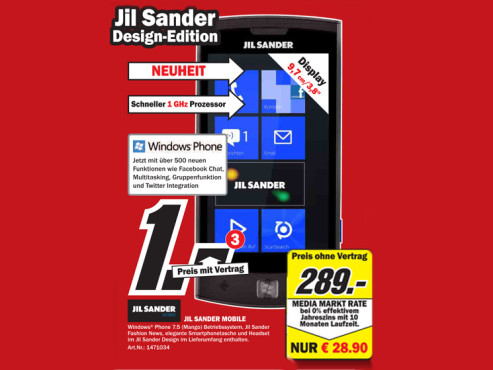 Jil Sander Mobile © Media Markt