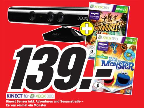 Kinect Sensor inklusive Spiele ©Media Markt