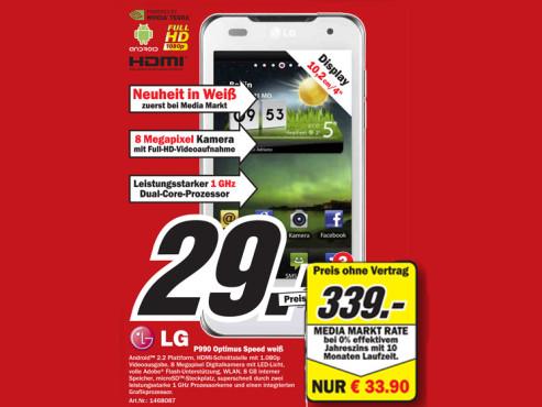 LG P990 Optimus Speed Weiß ©Media Markt