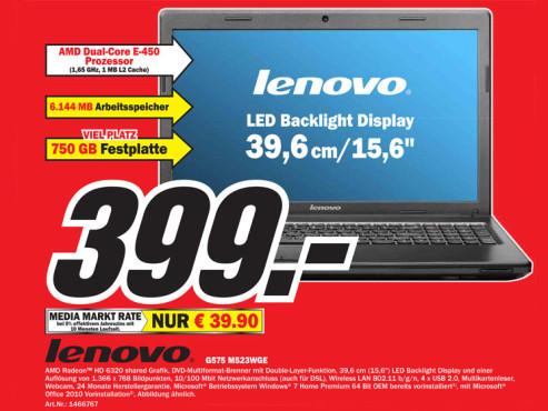 Lenovo G575 M523WGE ©Media Markt