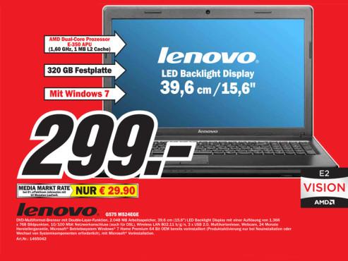 Lenovo G575 M524EGE ©Media Markt