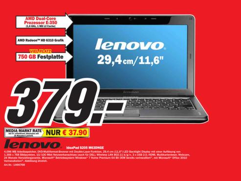 Lenovo IdeaPad S205 M63DNGE ©Media Markt