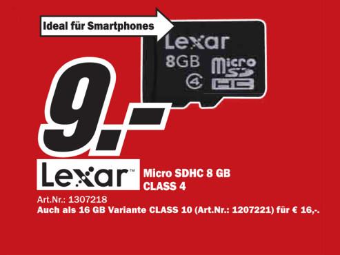 Lexar Micro SDHC ©Media Markt