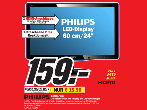 Philips 247E3LPHSU © Media Markt
