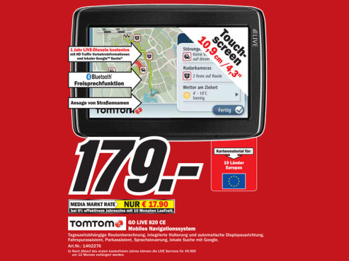 TomTom Go Live 820 Europe © Media Markt