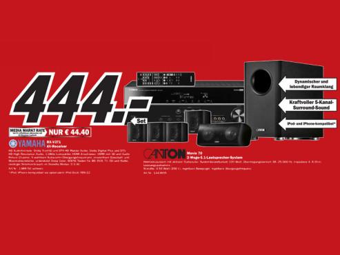 AV-Receiver- und Lautsprecher-Set ©Media Markt