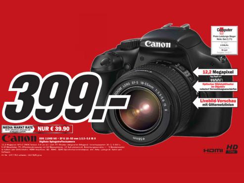 Canon EOS 1100D und EF-S-Objektiv ©Media Markt