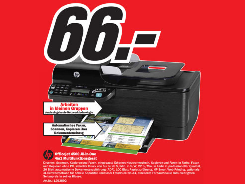 HP Officejet 4500 All-in-One © Media Markt