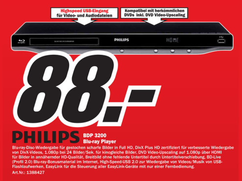 Philips BDP-3200 © Media Markt