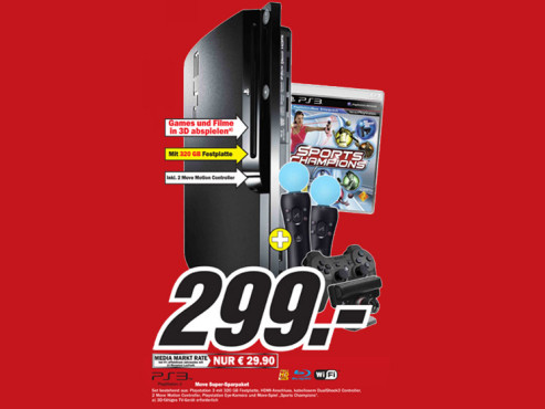 Playstation-3-Paket © Media-Markt