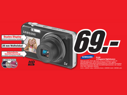 Samsung PL120 ©Media Markt