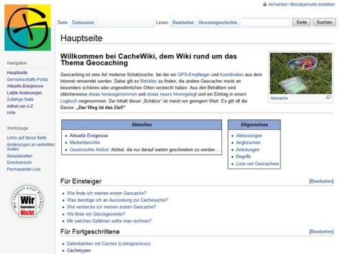 Screenshot CacheWiki ©COMPUTER BILD