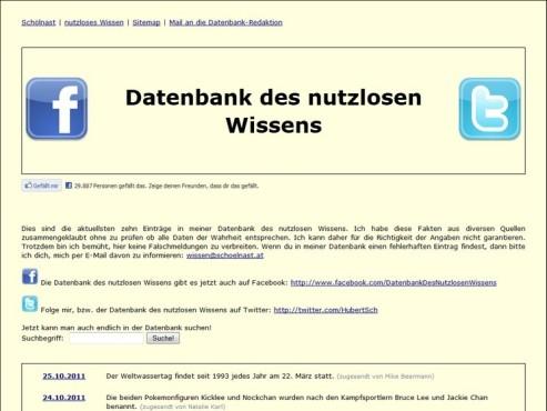 Screenshot Datenbank des nutzlosen Wissens ©COMPUTER BILD