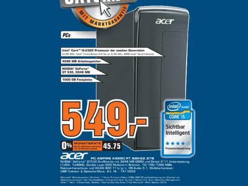 Acer Aspire X3990 PT.SGKE2.278 ©Saturn