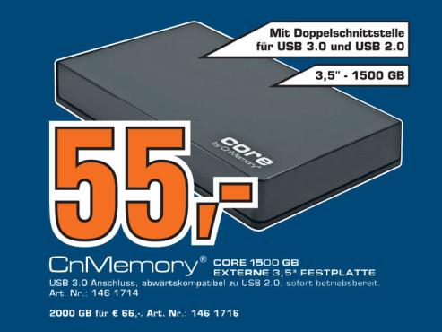 CnMemory Core 1500 GB ©Saturn