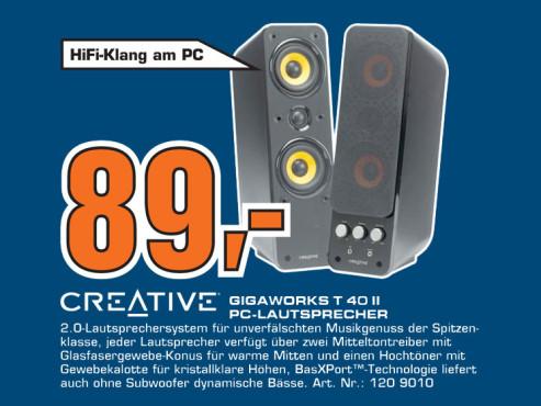 Creative Gigaworks T 40 II ©Saturn