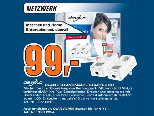 Devolo dLAN 200 AVSmart+ Starter Kit ©Saturn