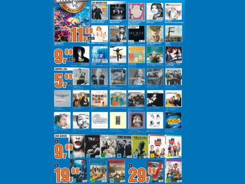 Diverse Audio-CDs und DVD-Boxen ©Saturn