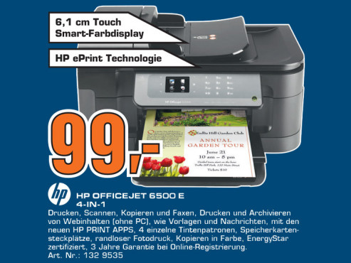 HP Officejet 6500 E ©Saturn