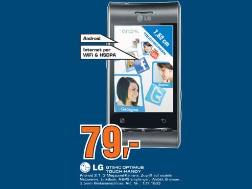 LG GT540 Optimus ©Saturn