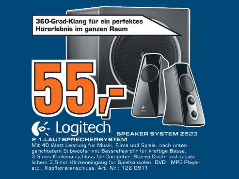 Logitech Speaker System Z523 ©Saturn