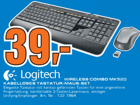 Logitech Wireless Combo MK520 ©Saturn