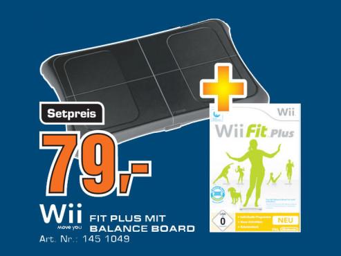 Nintendo Wii Fit Plus mit Balance Board ©Saturn