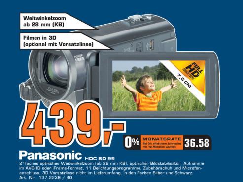 Panasonic HDC-SD99 ©Saturn