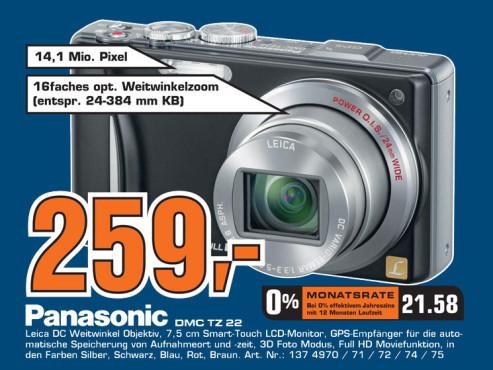 Panasonic Lumix DMC-TZ22 ©Saturn