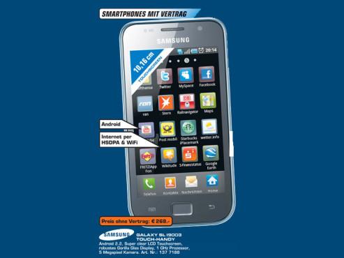 Samsung Galaxy SL i9003 ©Saturn