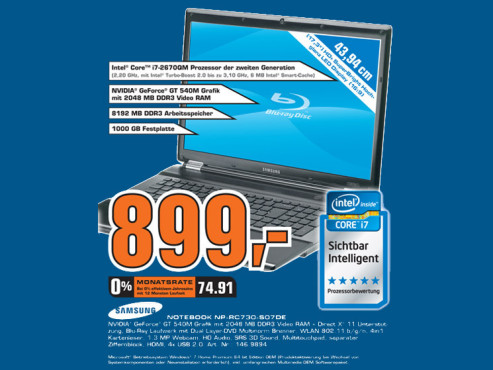 Samsung NP-RC730-S07DE ©Saturn