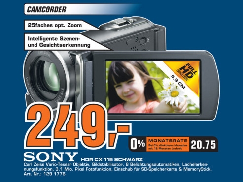 Sony HDR-CX115 © Saturn