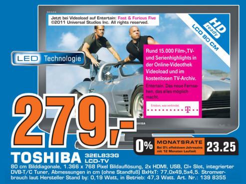 Toshiba 32EL833G ©Saturn