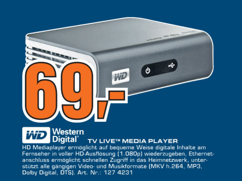 Western Digital TV Live Media Player ©Saturn