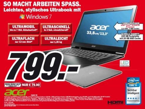 Acer Aspire S3 ©Media Markt