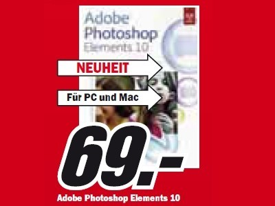 Adobe Photoshop Elements 10 © Media Markt