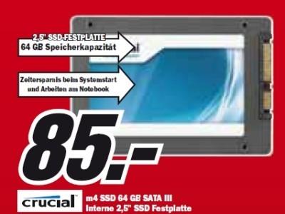 Crucial m4 SSD 64 GB SATA III ©Media Markt