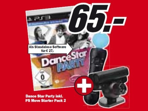 Dance Star Party mit PS Move Starter Pack 2 © Media Markt
