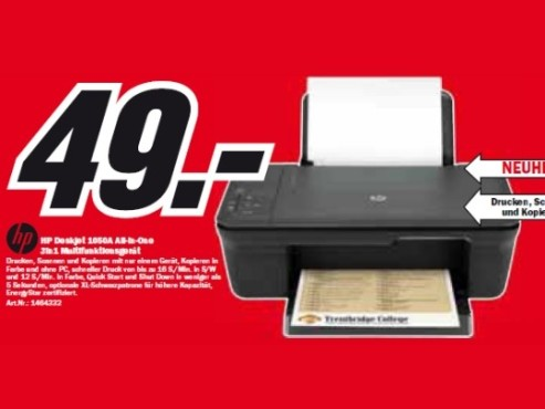 HP Deskjet 1050A All-in-One © Media Markt