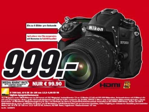 Nikon D 7000 mit Objektiv ©Media Markt