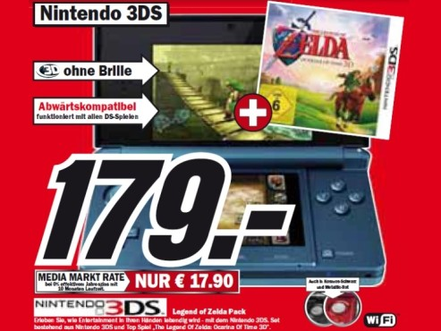 Nintendo 3DS mit aktuellem Top-Spiel ©Media Markt