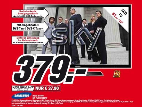 Samsung UE32D5000 ©Media Markt